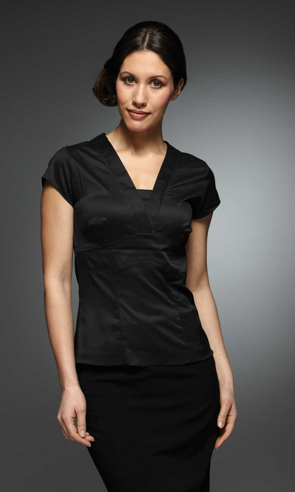 Black Blouse For Work - Tie Blouse